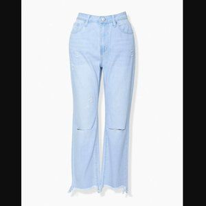 Forever 21 Distressed Ankle Jeans